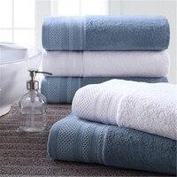 Big Size 80cm 150cm 100 Cotton Towel Luxury Bathroom Super Absorbent Bath Towels For Adults Blue