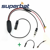 Superbat DAB Car Radio Antenna DAB FM AM Aerial Converter Splitter With RAST II Aerial Adaptor
