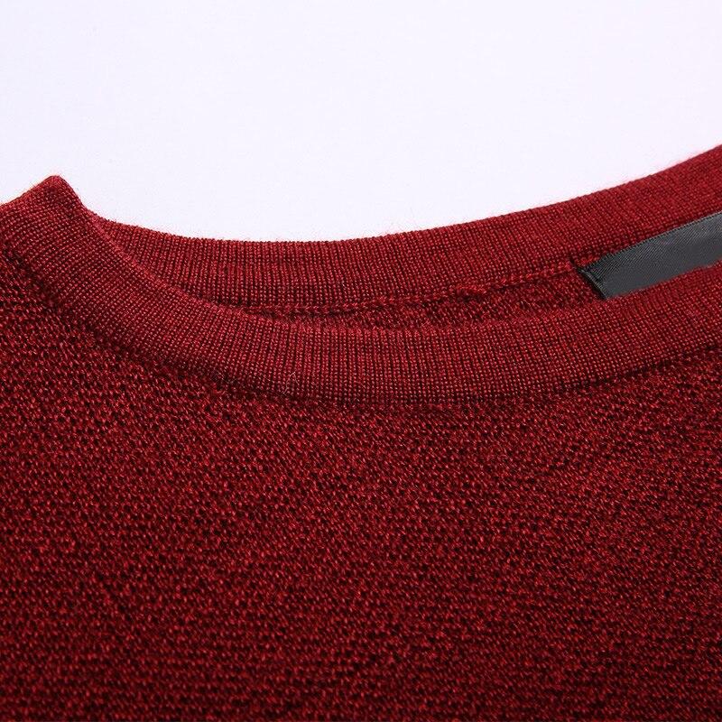 Black O Chandail Red Retour Longue Irrégulière Longues Robe De Pull À 2017 Pulls wine cou Rouge Manches Mode Color Tops Femmes Rayé Casual Split Tricoter wqHYxF1