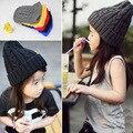 Мода высокое качество зима детская шапка твист трикотажные теплый ребенок вязаная шапка ребенка удобные эластичные cap