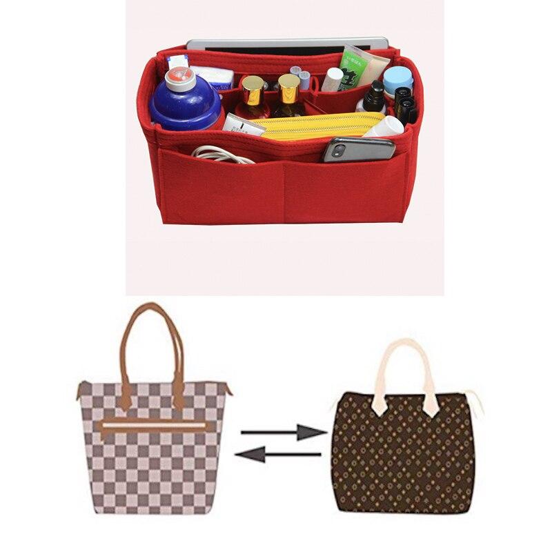 Купить с кэшбэком For Delightful MM PM GM Purse Organizer Insert - 3MM Premium Felt (Handmade/20 Colors)Bag in Bag