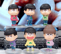 6 pcs Anime Osomatsu-san toys Mr osomatsu san Karamatsu Ichimatsu figures mini PVC dolls set 6.5cm for gift free shipping