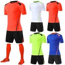 18 19 пользовательские новые взрослые мужчины и дети футбол форменная одежда футбол тренировочные костюмы дышащая Джерси QD008