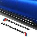 Стайлинга автомобилей M производительность сбоку юбка стикеры наклейки для BMW X1 X3 X5 X6 1 3 5 7 серии e90 e46 e39 e60 f30 f10 f20 f22 f34 g30