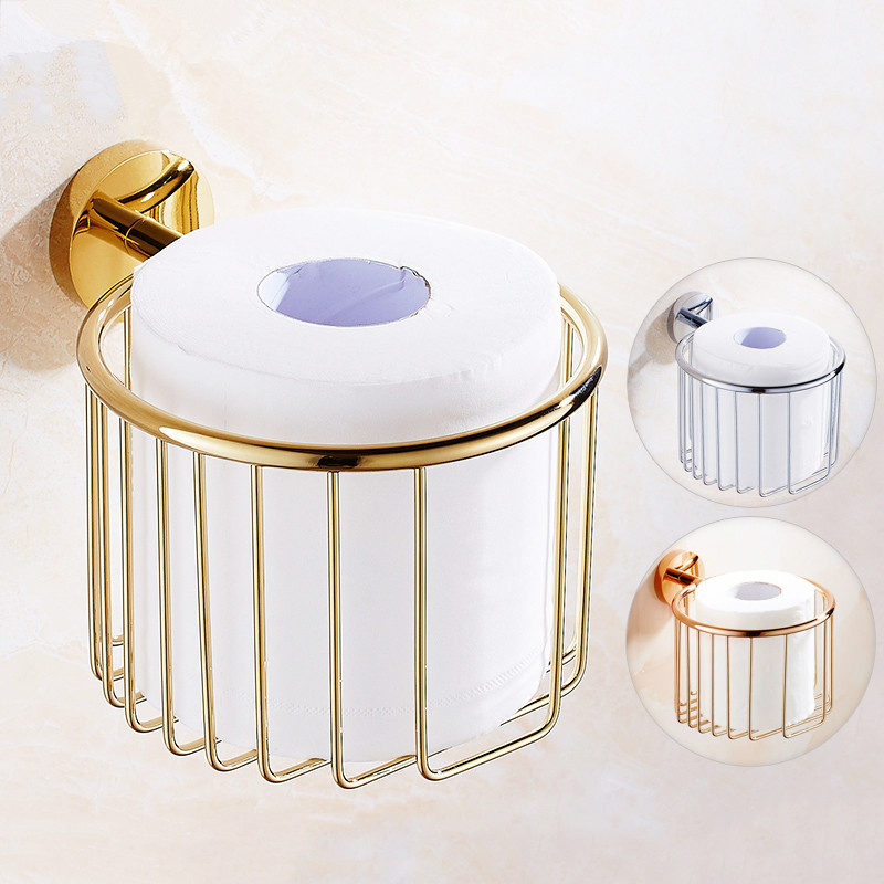 European Antique Copper Toilet Tray Gold Plated Paper Towel Holder Rose Gold Paper Towel Toilet Paper Holder Bathroom Shelf black of toilet paper all copper toilet tissue box antique toilet paper basket american top hand cartons page 7