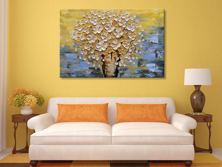 modern textured paintings framed hand painted modern textured flower oil painting on canvas