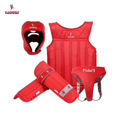 KANGRUI high quality Sanda/Muai thay MMA fighting body protector guards 4pc headstall chest guard jockstrap leg guards набор из 2 полотенец merzuka sakura 50х90 70х140 8430 сиреневый