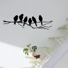 Birds on the Tree Branch Wall Sticker for Living Room Wall Decals for Art Stickers Home Decoration Murals Removable A-146 birds on the tree removable wall decals stickers living room furniture decor mural art sticker zy8208