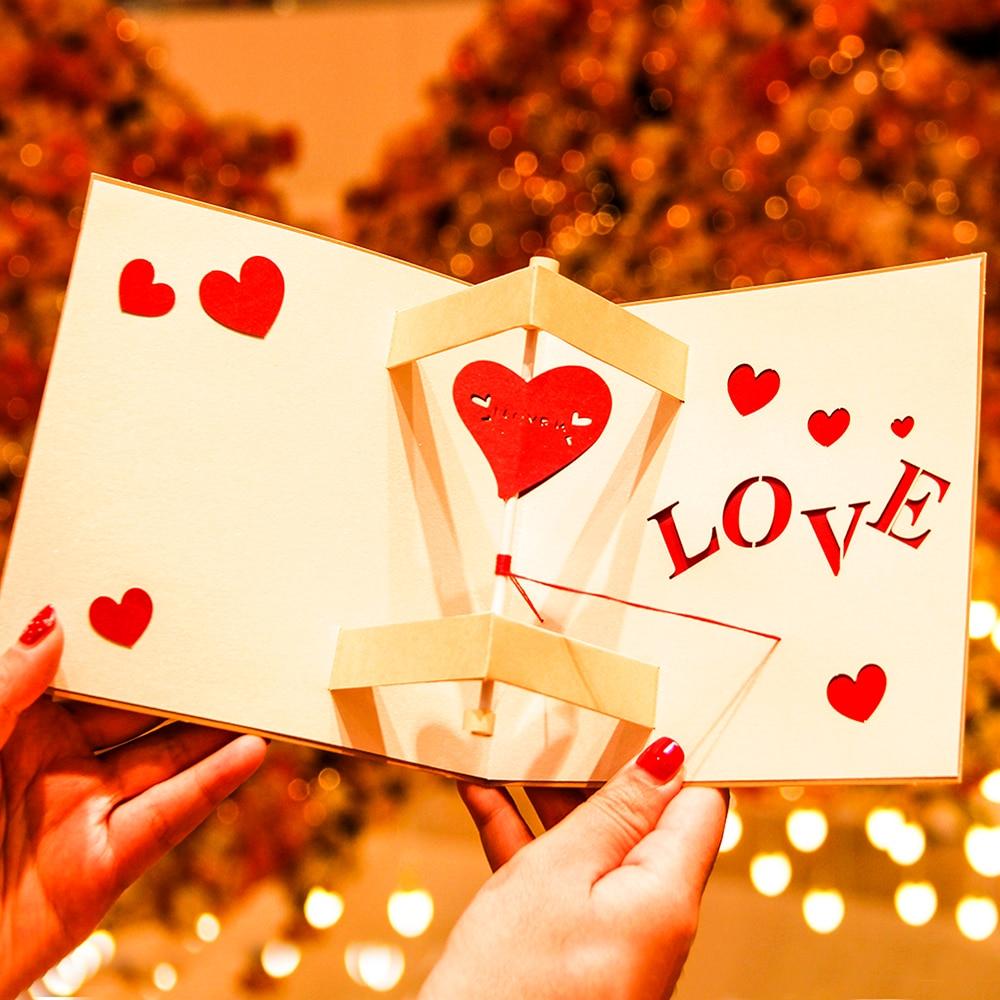 Big sale 3d pop up romantic wedding invitation lover valentines day 3d pop up romantic wedding invitation lover valentines day postcards greeting card laser cut handmade new m4hsunfo