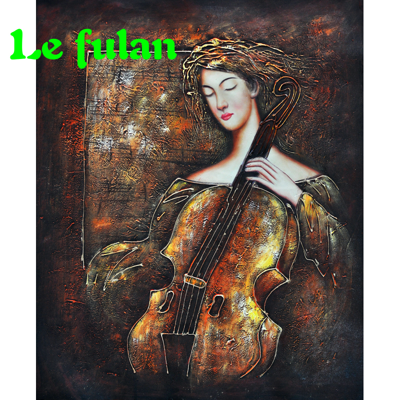 Full Diamond Embroidery Beauty And Cello Diy Diamond Painting A Classical Romantic Picture For Home A Hobby Gift For Girl Friend