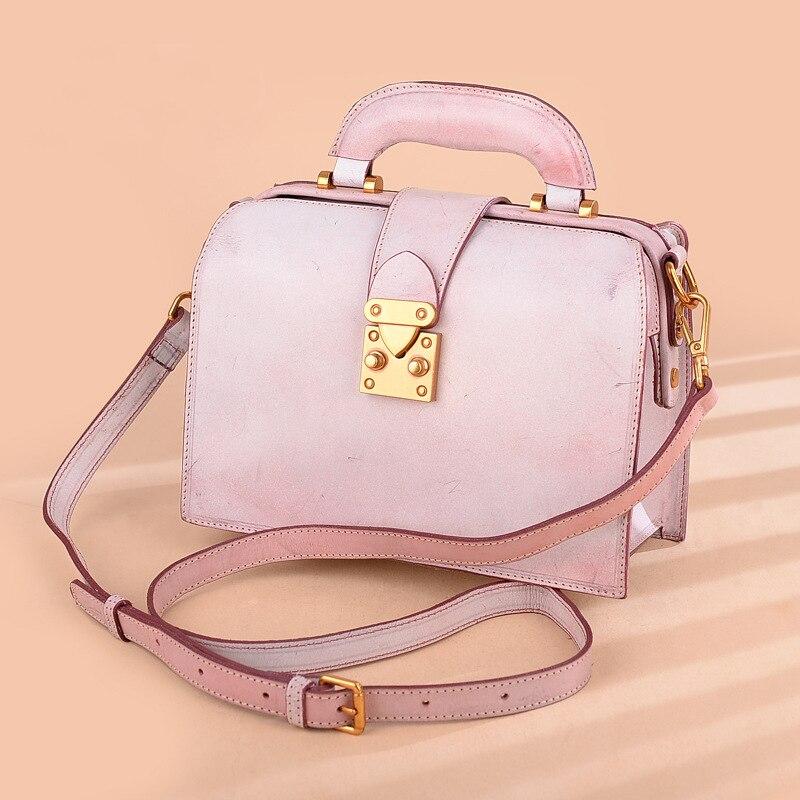 Gray Taschen Bagwoman Umhängetaschen Echt Weibliche Rosa Luxus Schulter Messenger pink brown Leder Frauen Für Heißer Damen Verkauf Niedliche Handtaschen Ia6Aqf4fwx