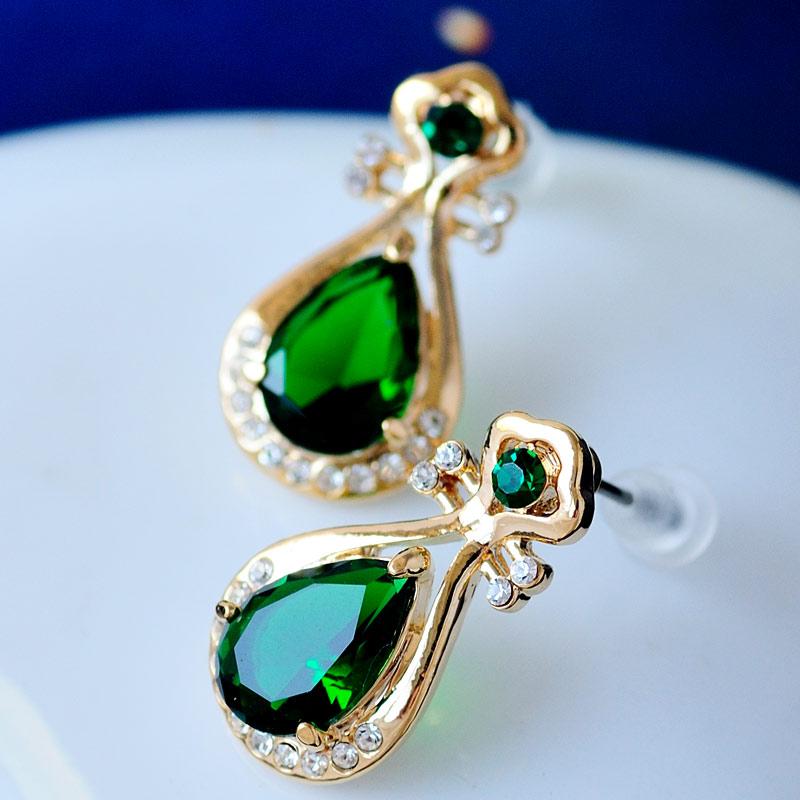 Boucles d'oreilles en cristal Mu Xia pour femmes, personnalité, tempérament, femme coréenne, belle oreille en or rose, bijoux Pipa Vintage