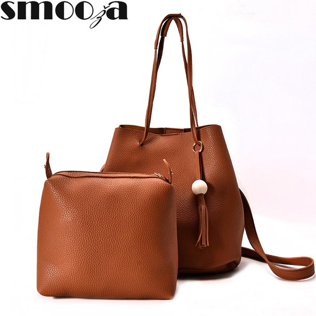 1d44dbfa28e0 SMOOZA Fashion 4pcs set Women Composite Bags Casual Tote Female Bolsas Women  Messenger Bag Handbag