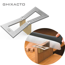 Dovetail Marker Hand Cut Wood Joints Gauge Guide Tool with Scale Template Size 1: 5-1: 6 and 7 DIY