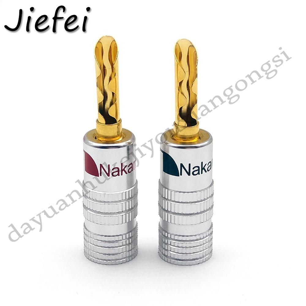 Işıklar ve Aydınlatma'ten Konnektörler'de 20 100 adet yüksek kaliteli Nakamichi 24K Altın Kaplama Bakır BFA 4mm Muz Fiş Erkek Hoparlör Konektörü title=