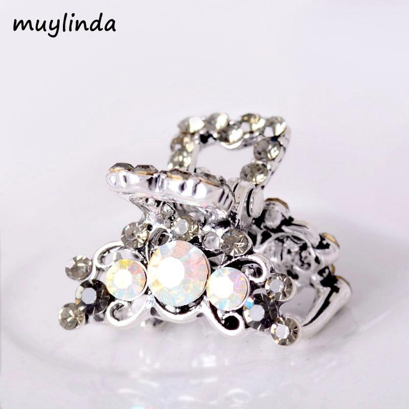 Mini Steentjes Haar Clip Dames Mode-sieraden Bloem Klein Haar Klauw Retro 4 Kleuren Beschikbaar Haaraccessoires