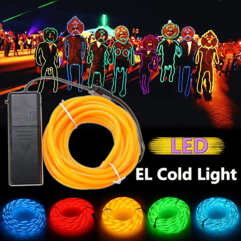 1 м/2 м/3 м/4 м/5 м 3 режима неоновый свет свечение EL провода Светодиодные ленты Light Tube 5 мм автомобиля Танцевальная Вечеринка Бар Декор с контролл... ...