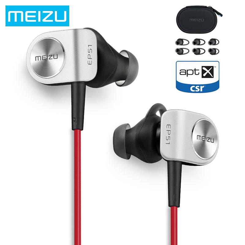 Prix pour D'origine Meizu EP51 Sans Fil Bluetooth Écouteurs Stéréo Casque Étanche Sport Écouteur Avec MIC Soutenir Apt-X