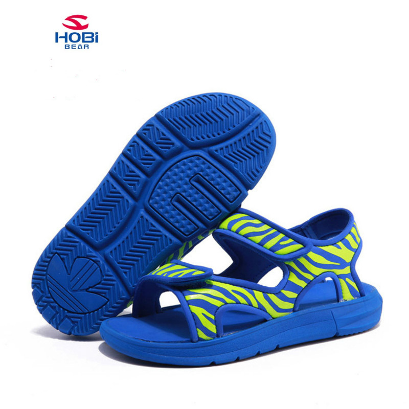 Children Beach Shoes boys girls Kids Sandals Leather Wear Casual Shoes Hook & Loop Kids Sandals Two Straps Children Summer Shoes 25 40 size usb charging basket led children shoes with light up kids casual boys