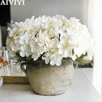 6 çatal İskoç ortanca yapay çiçek ev dekorasyon sahte çiçek bahçe bitki masası dekorasyon buket Yapay ve Kurutulmuş Çiçekler Ev ve Bahçe -