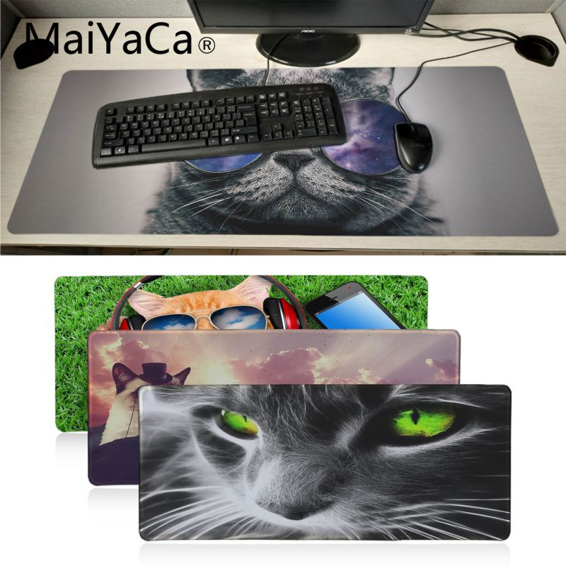 Mouse Pads Maiyaca Vintage Cool Cartoon Cat Collection Anti-slip Durable Rubber Mat Mouse For Lol Game Playing Lover Custom Mouse Pad Buy Now