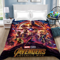 Marvel The Avengers bed sheet Spiderman iron Man Captain Marvel Captain America bed sheet bedclothes bed linen coverlet sheet