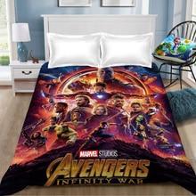 Marvel The Avengers bed sheet Spiderman iron Man Captain linen coverlet sheet(NO cover pillowcase)