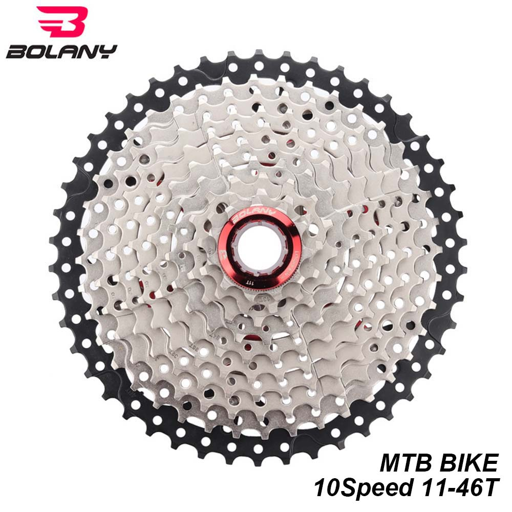 Bolany Mtb Bike 10 Speed 11-46t Cassette Flywheel Black Fit Sram Shimano Hg500 Cycling