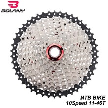 BOLANY Cassette 10 Speed Freewheel Sprocket 10s 11-46T Mountain MTB Bicycle Cassette Flywheel For Shimano Sram Bike Parts