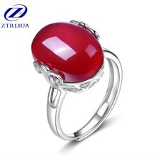 Женское кольцо с овальным кристаллом корейское ювелирное изделие