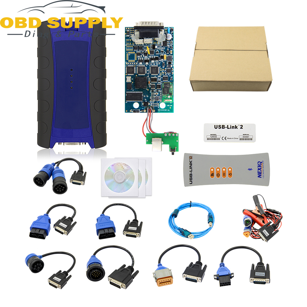 2018 High Quality Nexiq USB Link Auto Heavy Duty Truck Nexiq2 Bluetooth/USB Function Diagnostic Tool USB Link