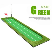 CRESTGOLF indoor golf mats practice putting green double-baseline putter trainers golf training aids