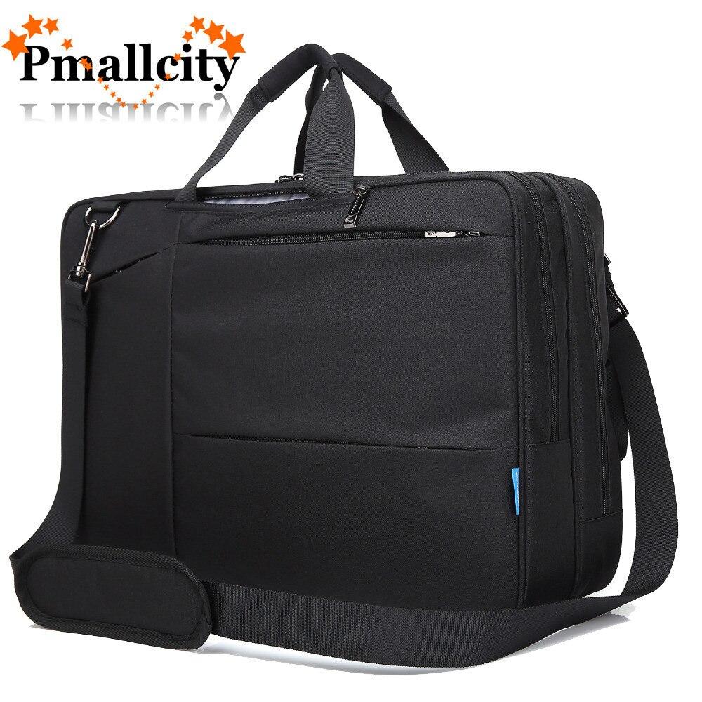 17-17.3 Inch Convertible Laptop Bag Canvas Backpack Multi-Functional Rucksack