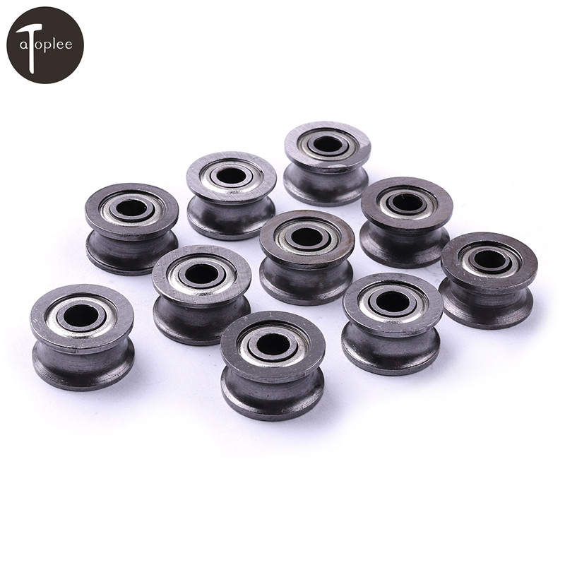 20pcs 624uu Hcs U Groove Guide Pulley Rail Ball Bearings Wheel 4*13*7mm For Low Speed Wire Track Wheels Roller Rail Bright Luster