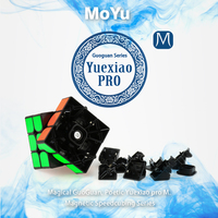 MoYu GuoGuan YueXiao Pro M Speedcube 3x3x3 Magnetic Cube Black Stickerless 3Layer Cubo Magico Professional Magic