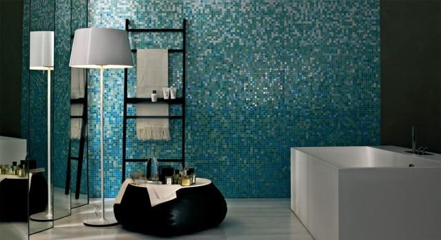 Bisazza mosaico di miscela di stile blu barlume graduale
