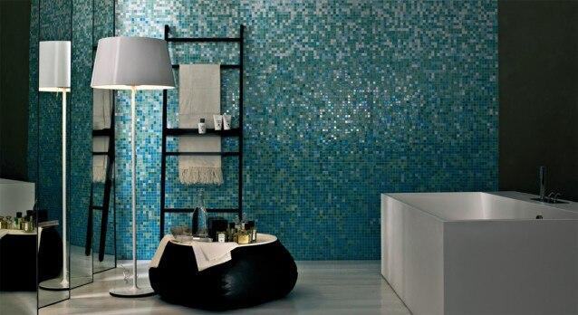 Bisazza Style Blend Mosaic Blue Glimmer Gradual Blending