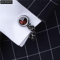 Hawsonファッションジュエリーゴールドカラーカフリンクチェーンメンズ高級パーソナライズカフシャツカフ