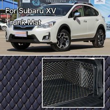 PU Leather Rear Trunk Cargo Liner Protector Mat Seat Back Cover For Subaru XV