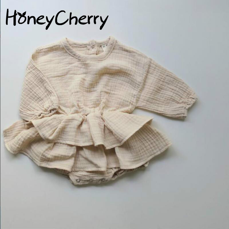 2019 Autumn Cotton Baby Bodysuits Long Sleeves Climbing Suits Children Pink Bodysuit Baby Girl Clothes(No hair accessories )2019 Autumn Cotton Baby Bodysuits Long Sleeves Climbing Suits Children Pink Bodysuit Baby Girl Clothes(No hair accessories )