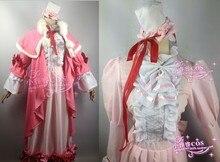 Victorique de Blois pink luxury gown GOSICK cosplay lolita costume dress cloak set