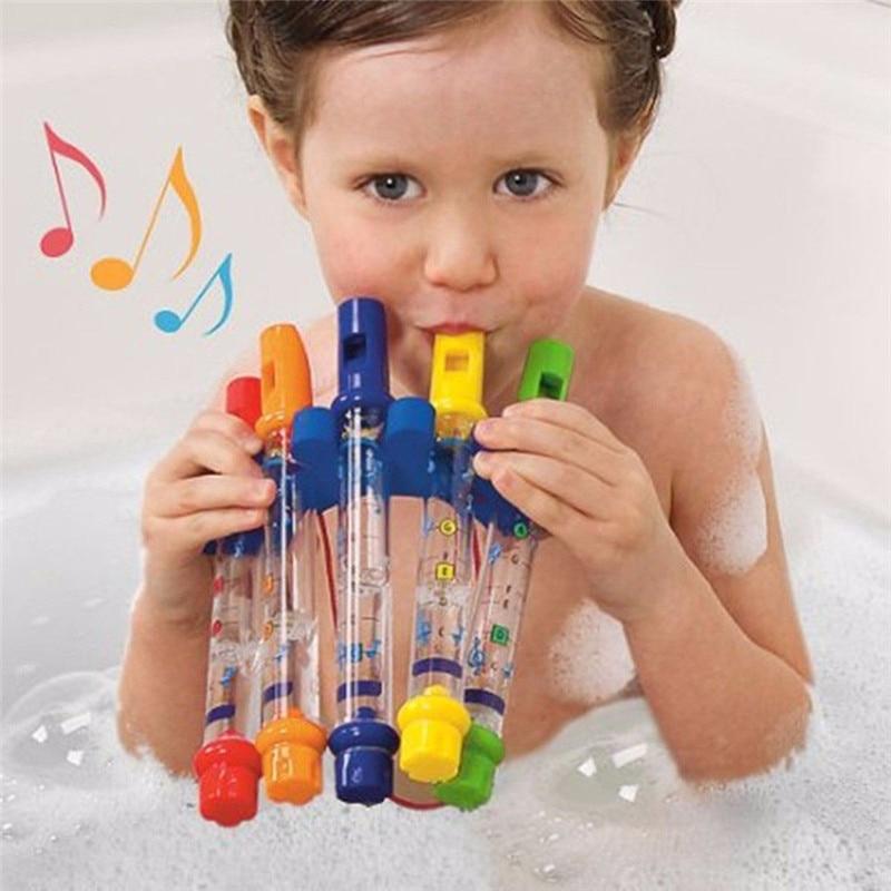 Kids Children Bathing Shower Bath Tub Water Whistles Music Toy цена 2017
