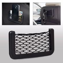 Free Shipping Car Auto String Mesh Storage Bag Pouch Net Cargo Net Organizer Holder for Cellphone Cigarette Gadget  ECA02235 portable car vehicle storage organizer holder nylon net pouch bag black