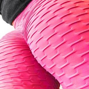 Image 5 - מכירה לוהטת שחור חותלות נשים פוליאסטר קרסול אורך סטנדרטי לקפל מכנסיים גמישות לשמור רזה לדחוף את כושר נשי צועד