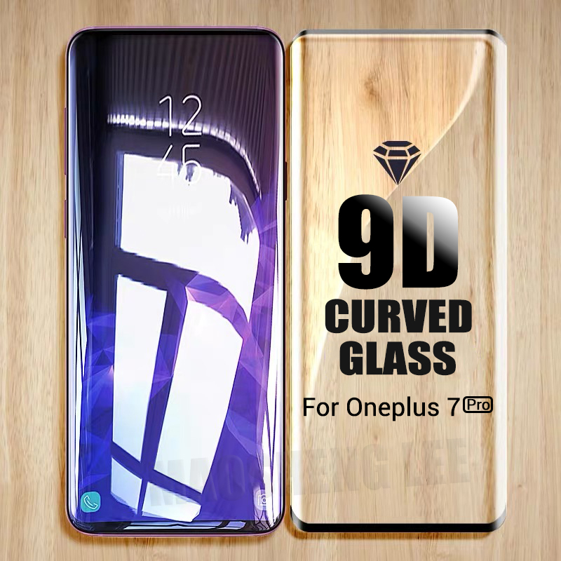 9D Curved Tempered Glass For Oneplus 7 Pro Glass Screen Protector Full Cover For oneplus 7 pro Glass Protective film-in Phone Screen Protectors from Cellphones & Telecommunications on