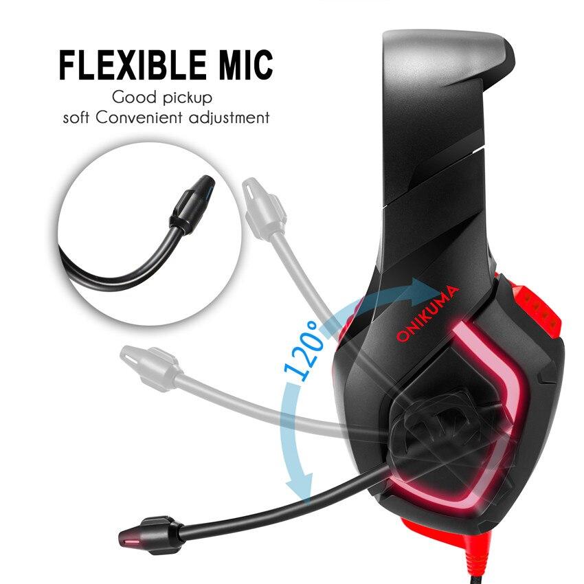 ONIKUMA K1 Wired Gaming Cuffie con Microfono Mic per Computer Migliore PC  Gamer Headset Gioco Casque Heavy Bass Auricolare Stereo in ONIKUMA K1 Wired  Gaming ... ba9f0e28e1e9