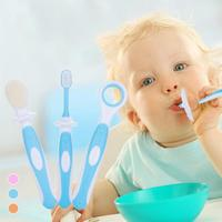 3pcs Set Baby Kids Toothbrushes Newborn Infant Teether Training Toothbrushes Silicone Baby Children Dental Oral Care