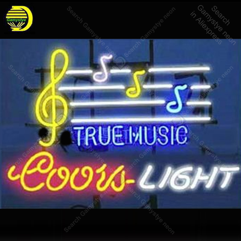 Neon Sign for Coors Light True Music Neon Bulb sign handcraft Beer glass neon signboard Decorate Hotel restaurant light lamps image