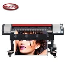 Один DX5 двойной 4 цвета CMYK большой формат виниловые баннеры эко растворитель для струйной печати принтер с 100 м LAN сети