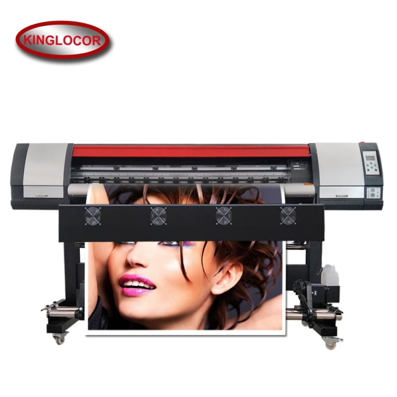 Uno DX5 doble 4 colores CMYK Banners de vinilo de gran formato impresora de inyección de tinta Eco solvente con red LAN de 100 M